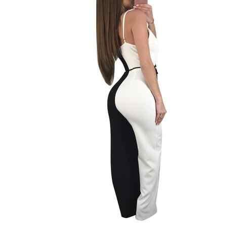 Mono Bodycon para mujer 2019 señora verano playa volantes Bodysuit Club Wear mujer Playsuit WF409