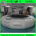 Melhor qualidade 0.9mm PVC brinquedo inflável trampolim de água com laders para parque aquático jogos