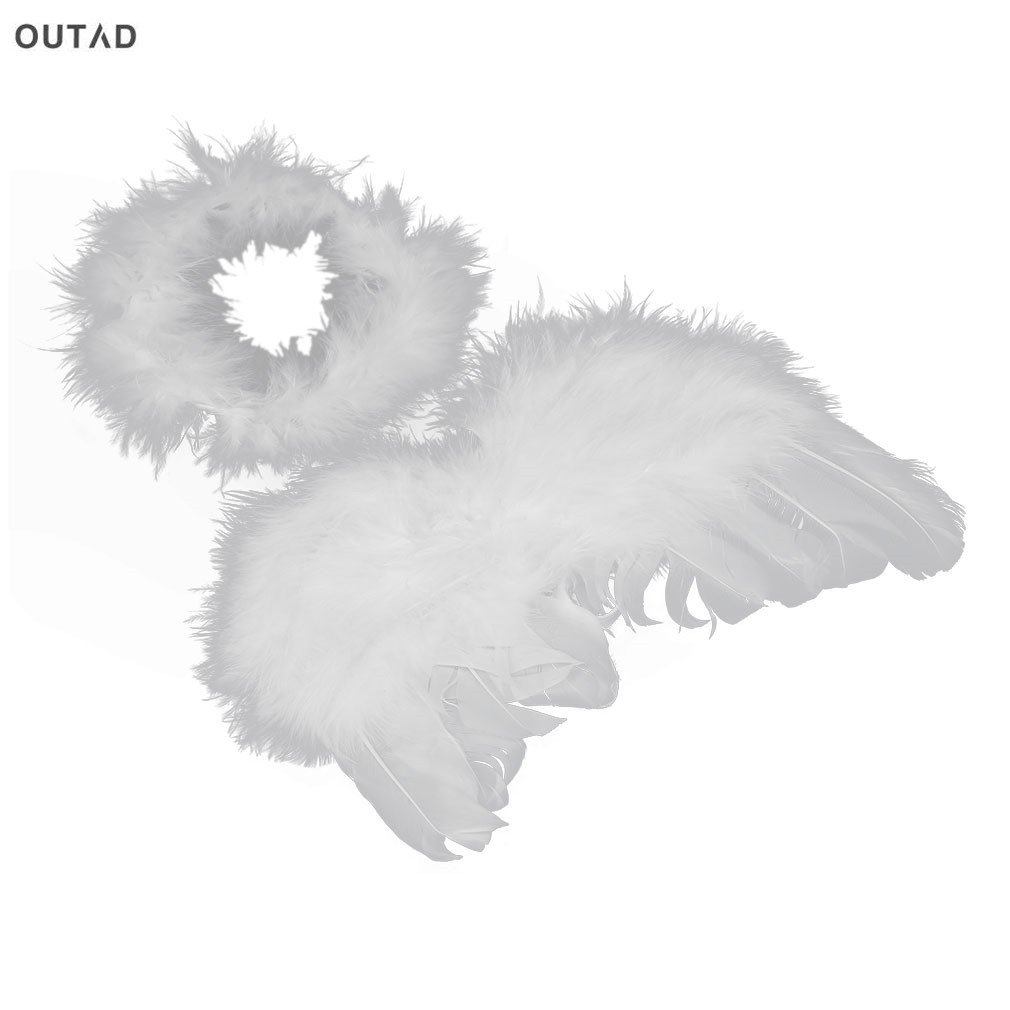 OUTAD Newborn Feather Wing Decoration Costume For Photograph Comfortable Infant Photo Prop Baby Kids Angel Fairy New arrival