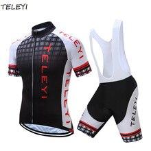 TELEYI Men Herbt Pro Rock Bicycle Wear Maillot Cycling Clothing Ropa Ciclismo MTB Bike uniform Cycle shirt Racing Cycling Jersey