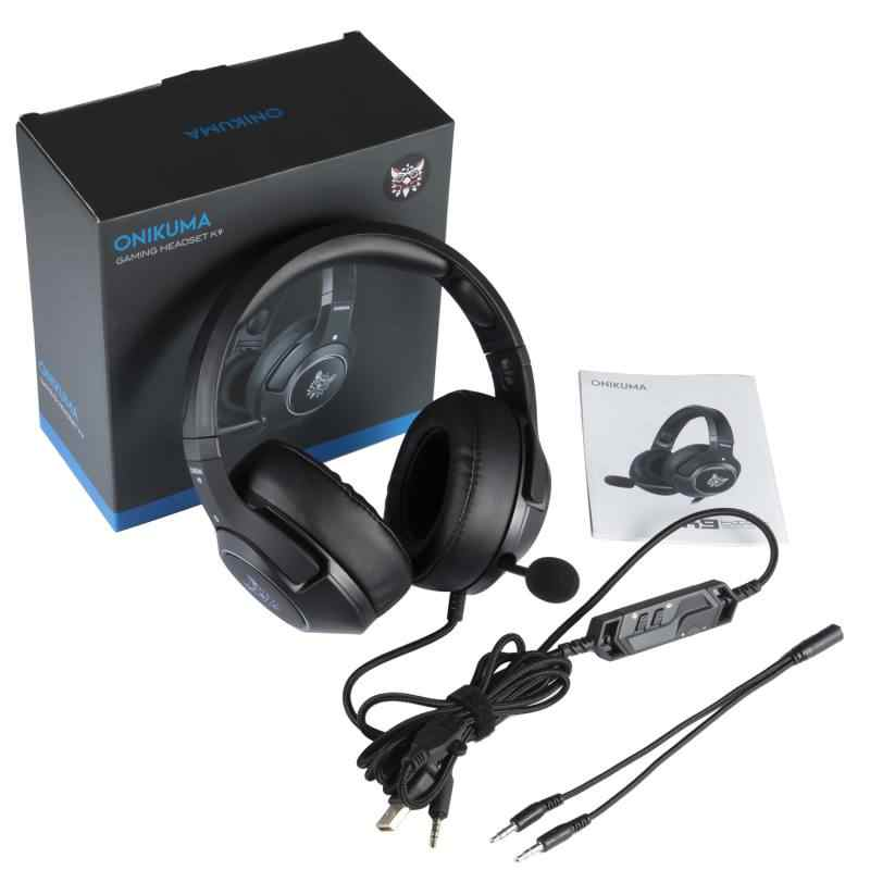 K9 активный Шум снижение игровой басовые наушники освещение, компьютерная игровая гарнитура, для Mac/Xbox 360/Xbox One/Playstation 3/Playstation