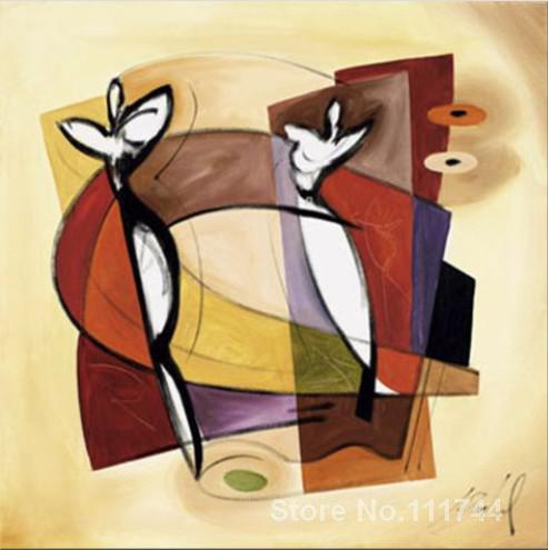Canvas art abstract lucky in love alfred gockel hand painted oil painting for hotel room decorationCanvas art abstract lucky in love alfred gockel hand painted oil painting for hotel room decoration