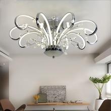 Современные светодиодные люстры в простом стиле, освещение для гостиной, художественная работа с кристаллами K9, освещение для спальни, ресторана