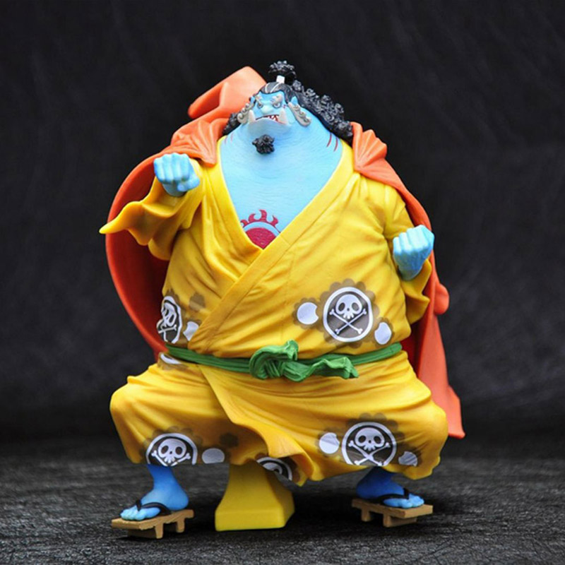 One Piece The Straw Hat Pirates Jinbe Action Figure 18 scale painted figure King Of Artist Jinbe PVC figure Toy Brinquedos
