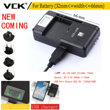 VCK Mobile Universal Battery width 32-66mm Charger LCD Indicator Screen For Cell Phones USB Charger