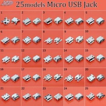 цена на JCD Micro USB B Type Female Socket Connector Micro USB Jack Connector 5 pin Charging Socket 7Pin 11p Micro USB jack for samsung