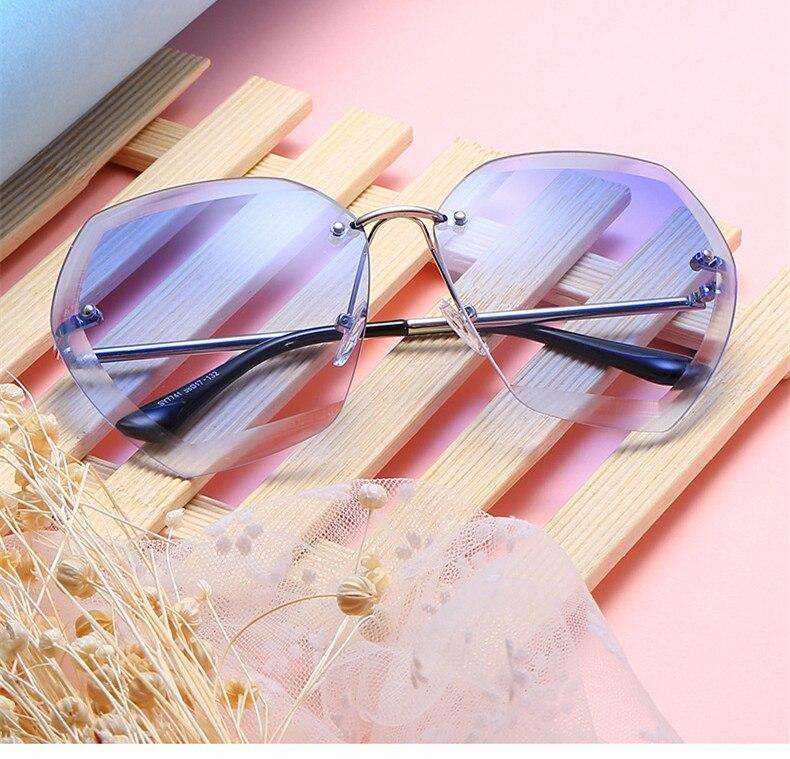 NYWOOH Oversized gafas de sol mujer Retro diamante lente gafas de ...