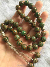 2018 nouveau Design 10mm pierre naturelle 33 perles de prière Tibet Dzi perles forme ronde islamique musulman Tasbih Allah pour hommes et femmes