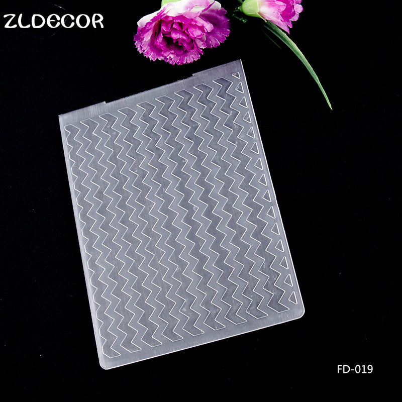 ZLDECOR New Plastic Embossing Folders for DIY Scrapbooking Paper Craft Card Making Decoration Supplies
