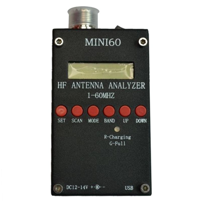 Mini60 sark100 HF ANT SWR Antenna Analyzer Meter For Ham Radio Hobbists Black