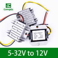 DC DC Converter 5-32V to 12V 1A 2A 3A IP68 Step Down/Up Module Voltage Frequency Converter for Car Radio Led String Light