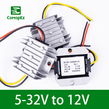 цена на DC DC Converter 5-32V to 12V 1A 2A 3A IP68 Step Down/Up Module Voltage Frequency Converter for Car Radio Led String Light