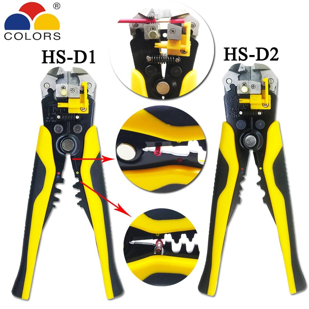 0,2-6.0mm2 Design Multifunktionale Automatische Abisolieren Zangen Kabel Draht Abisolieren Crimpen Werkzeuge Schneiden Angenehm Zu Schmecken Hs-d1 Hs-d2 Awg24-10