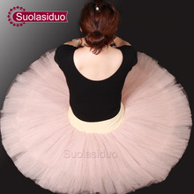 Adult  Pink Professional Ballet Tutu Skirt Women Dance Yarn Dress Girls Swan Lake Stage Performance Costumes