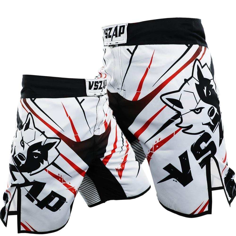 VSZAP MMA Boxing Motion Kleidung Baumwolle Lose Größe Training Kickboxing Shorts Kurze Muay Thai Shorts Günstige MMA Shorts Herren Hosen
