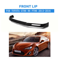 FRP Deep Black Car Front Lip Auto Front Bumper Lip Spoiler Fit For Toyota GT86 86