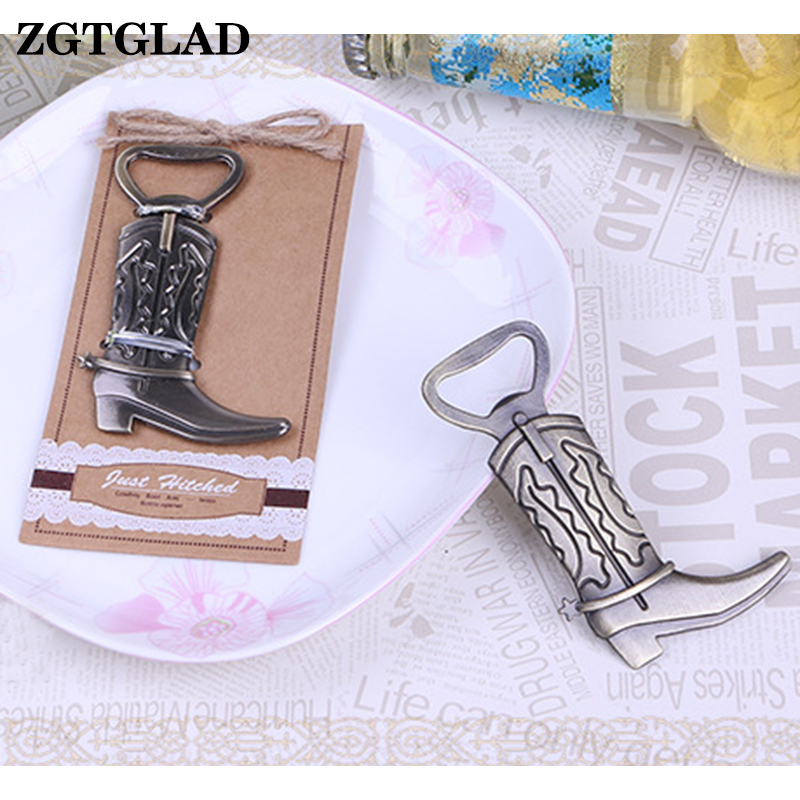 ZGTGLAD 1 Pcs Bottle Opener Hitched Cowboy Boot Western Birthday Wedding Favor Party Cute Too