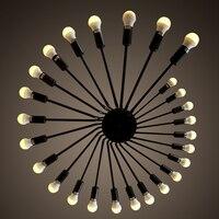 26 Главы Edison черный большой кулон потолочный светильник E27 светодиодный Люстра Лофт кафе бар отеля зал освещения