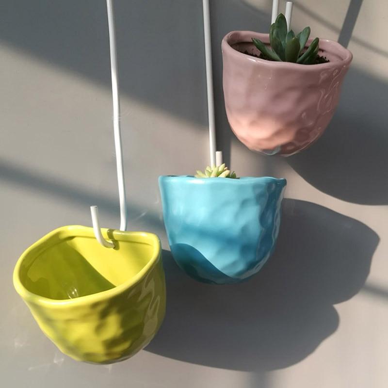 macetas decorativas de cerámica maceta de pared contenedor colgante - Productos de jardín - foto 2