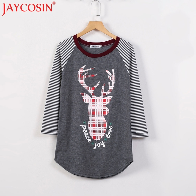 JAYCOSIN Newly T-shirts Basic Plain T shirt Female Casual Tops Women Tops Basic Long-Sleeve T-Shirt Free Shiping 15p