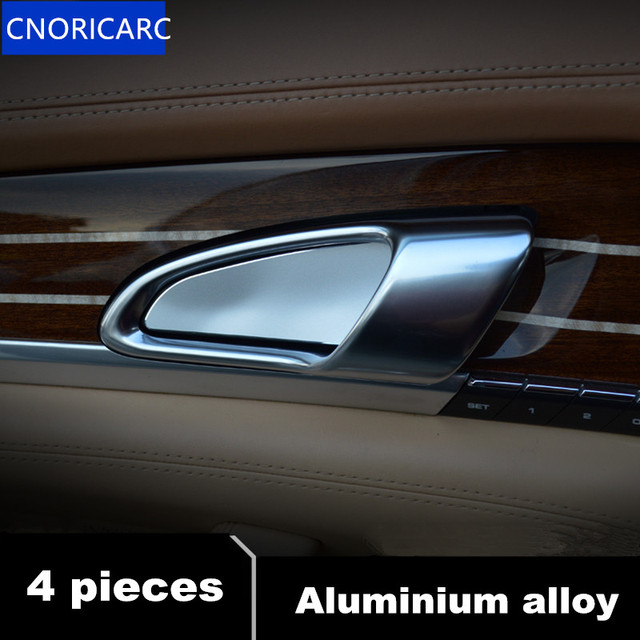 Cnoricarc 4pcs Aluminium Alloy Car Door Inner Bowl Sequins