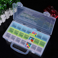2PCs 21 CellJewelry Beads Multi Colored Container PP Rectangle With Letter Pattern Box Diy Jewelry Findings