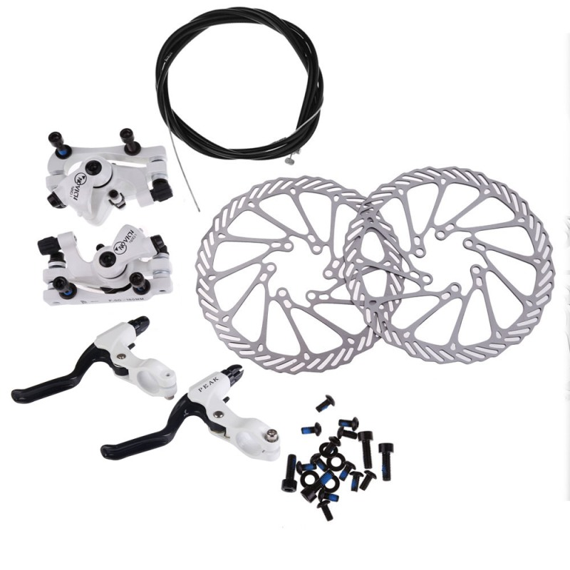 Cycling Bicycle Disc Brakes Set Kit G3 Rotors 160mm Brake Levers Cable(option) Ultra-light Aluminum Single Adjustable Disc Brake mtb bicycle disc brake set kit rotors 160mm hose bicycle accessories bicycle brake calipers levers g3 hose hot bolts