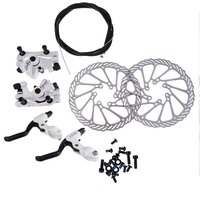 Free Shipping Cycling Bicycle Disc Brake Set Kit G3 Rotors 160mm Brake Levers Cable Gib