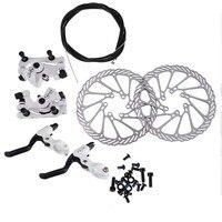 Cycling Bicycle Disc Brakes Set Kit G3 Rotors 160mm Brake Levers Cable(option) Ultra light Aluminum Single Adjustable Disc Brake