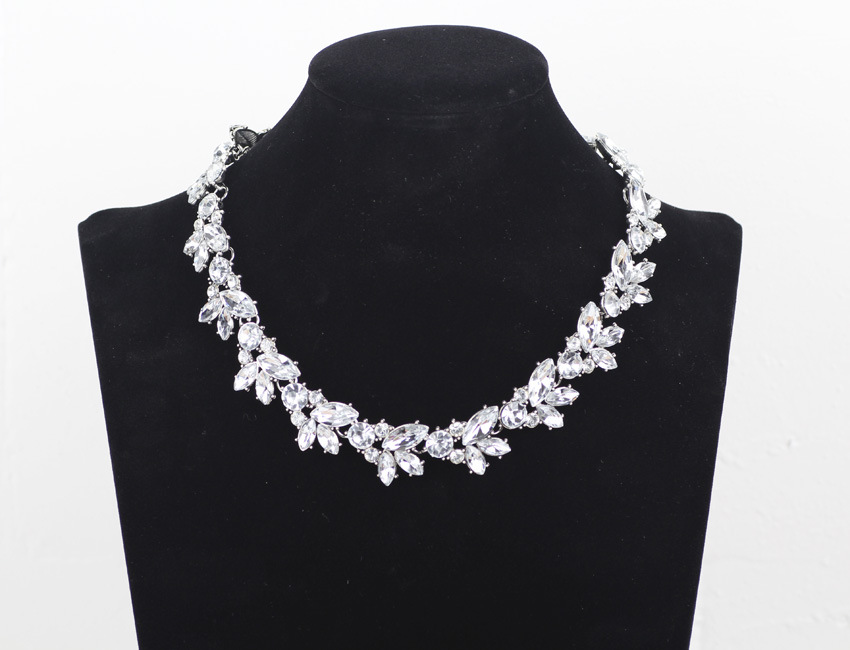 Retrò pieno austria cristallo strass choker collane donne corta catena pendente collana collares mujer regalo christams