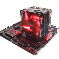 Pccooler X6 CPU Cooler 5 Heatpipes Double 4pin Led Quiet Fans For Intel 775 115x 2011