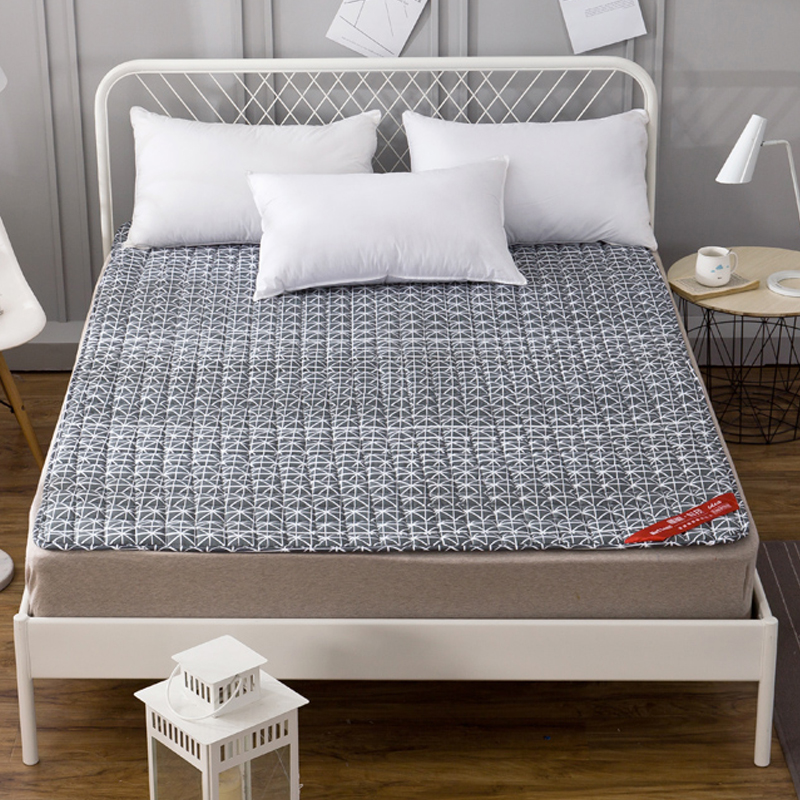 Papa&Mima Bed Protection Pad Quilted Mattress Cover Grippers Gray color