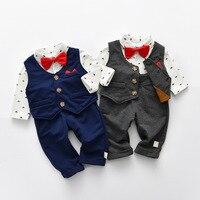 baby boys clothes set baby newborn three piece set romper+vest+pant BR 1852