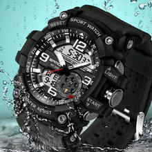 2017 Hot Selling Fashion Casual Sport Watch For Mens Watches Top Brand Luxury Digital Electronic LED Waterproof Military Watch
