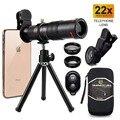 Универсальный Набор объективов для камеры 22X зум-объектив для всех смартфонов телеобъектив + bluetooth + штатив