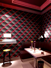 Modern Geometric Lattic 3D Wall Papers Vinyl PVC Lattice Wallpaper Roll for KTV Room Shops Background Mural Papel Pintado