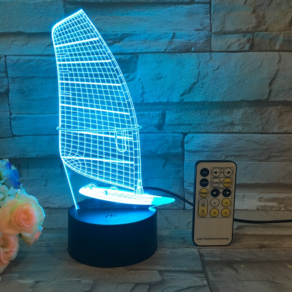 Willshi Table font b Lamp b font Latest 3D font b Night b font Light Bedside