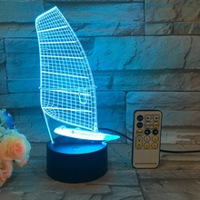 Willshi Table Lamp Latest 3D Night Light Bedside LED Lamp Lighting Fashion Desk Light Colorful Desk Lamp with Remote Control