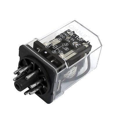 Подробнее о DC 12V Coil 7.5A 250V AC 10A 30V DC 8 Pins DPDT Power Relay JQX-10F-2Z free shipping dc 12v coil electromagnetic relay 8 pins dpdt 2 no 2 nc jqx 10f 2z