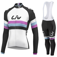 New Arrival 2015 liv long sleeve cycling jersey set women cycling clothes breathable bike suits with 3D gel pad
