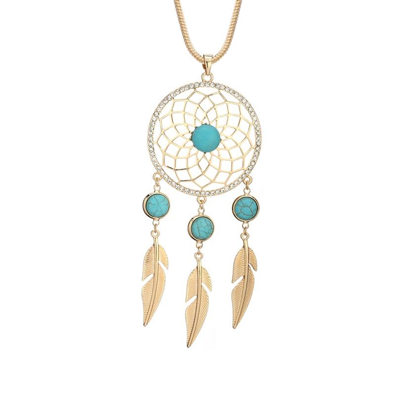 CZ Dream Catcher Pendant Necklace Women Gold/Silver/Rose  Gold DreamCatcher Snake Chain Ladies Pendant Necklace Crystal Jewelry