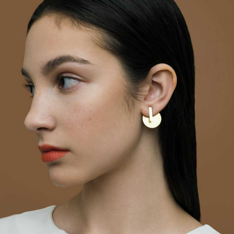 New Stud Fashion Fashion Personality Simple Joker Round Piece Strip Combination Women's Earrings Hot Sale Accessories Wholesale