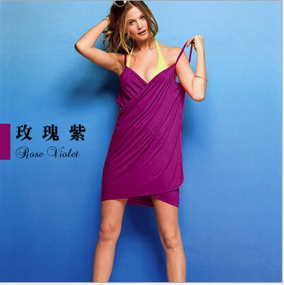 Women 39 s Backless Beach Cover up Dress Bikini Wrap Skirt in Cover Ups from Sports amp Entertainment
