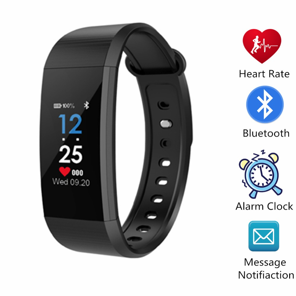 YISUYA Bluetooth Smart Bracelet Blood Pressure Sport Watches for Men Women Fashion Colorful Health Wristband Step Recorder Clock