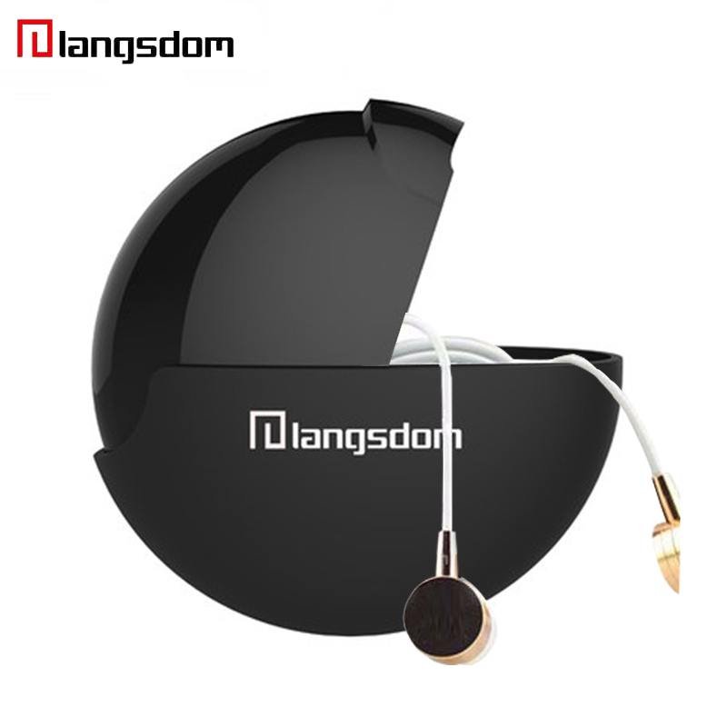 Original Langsdom UFO Shape Earphone Storage Box Portable Headset Case Multifunctional Frosted Surface Headphone Carrying Bag hiinst black portable and durable waterproof portable carrying storage aluminum alloy case box for spark drop aug15