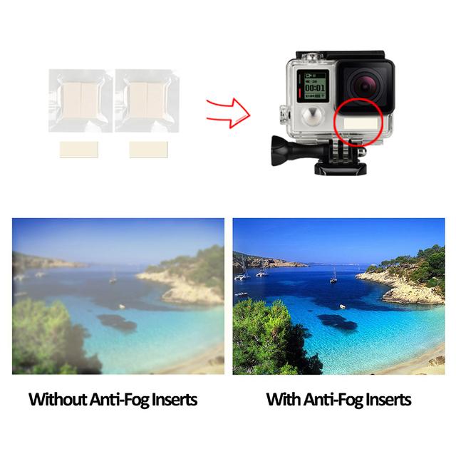 SHOOT 12pcs Anti Fog Inserts for Gopro Hero 7 5 6 Black 4 Xiaomi Yi 4K Sjcam Eken H9 Waterproof Case Camera for Go Pro Accessory