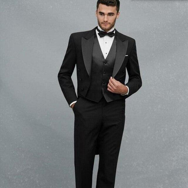 Connu Haute couture hommes costumes noir hommes de mariage costumes  JE29