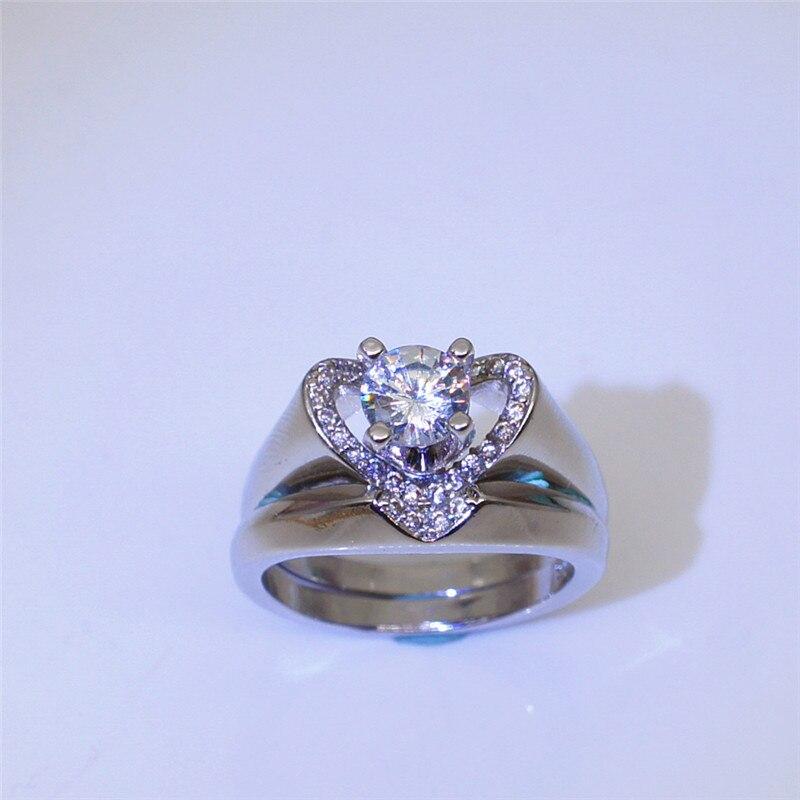 Aliexpress.com : Buy BOAKO Hot Sale Silver Color Wedding Ring for Women Heart Cute Zircon