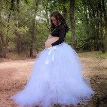 c5c8e6cbdc6 Best Tulle Skirts Women Saia Longa Gauze Voile Floor Length Skirt Tulle Bow  Skirts Pregnant Saia