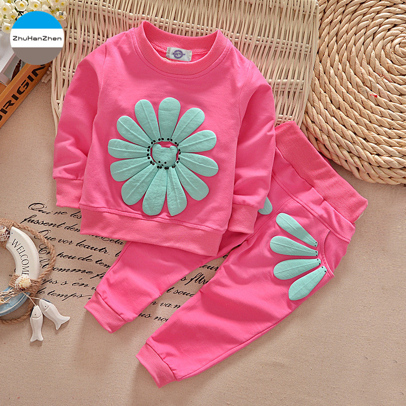 2018 0 To 24 Months Baby Clothes Set Fashion Flowers Princess Dress